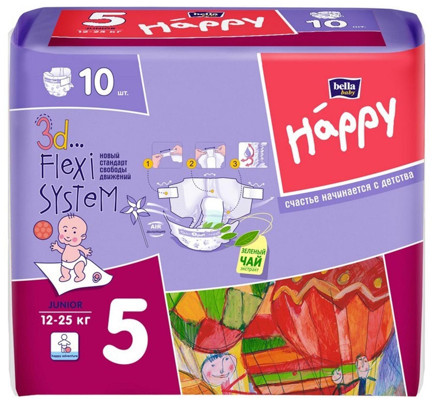 Подгузники Bella Baby Happy Junior 5 (12-25 кг), 21 шт.