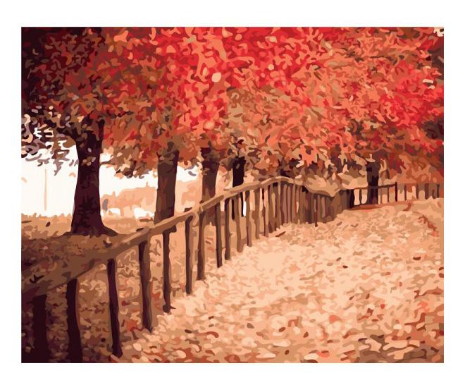 Раскраска по номерам Белоснежка Осенняя пора фото