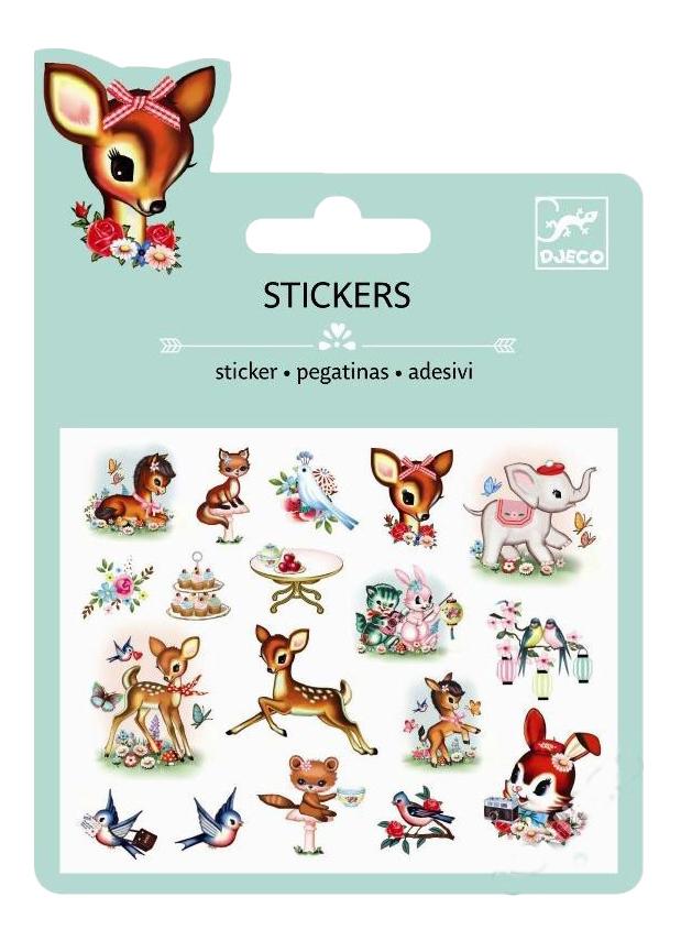 Наклейка декоративная для детской комнаты Djeco Животные винтаж