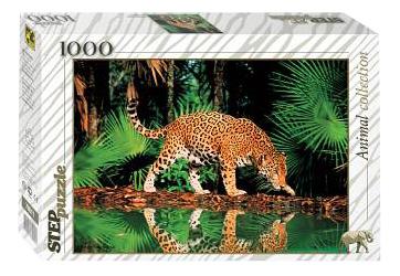 Пазл Step Puzzle Леопард у воды 1000 деталей 79011