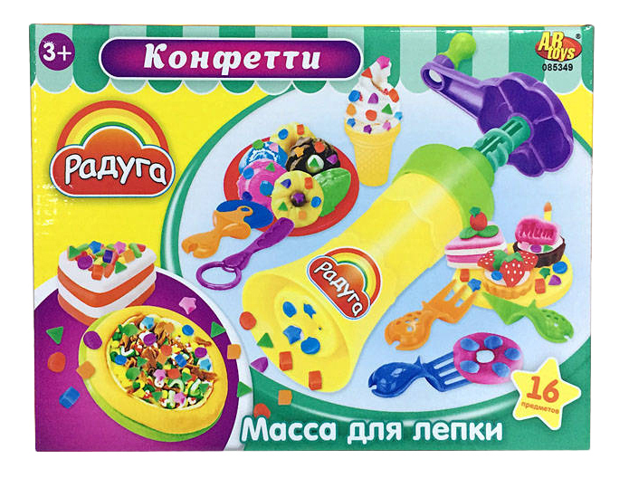 Набор для лепки из пластилина ABtoys Конфетти