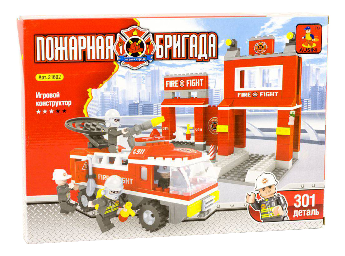 Купить Конструктор пластиковый Ausini Пожарная станция, Конструкторы пластмассовые