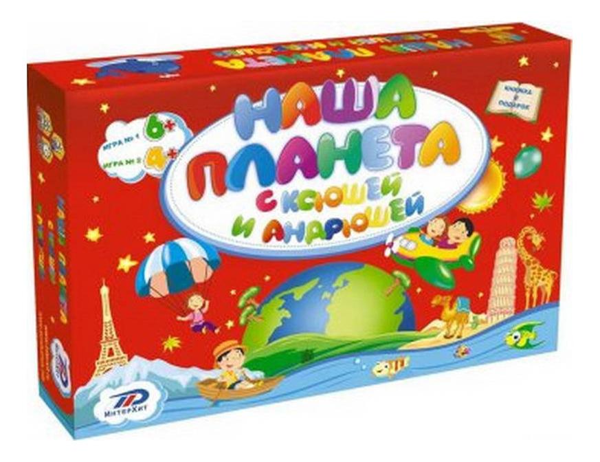 Купить Семейная настольная игра ИнтерХит Наша планета 37406, Семейные настольные игры