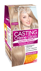 Краска для волос L`Oreal Paris Сasting Creme Gloss 1010 светлый светло-русый пепельный