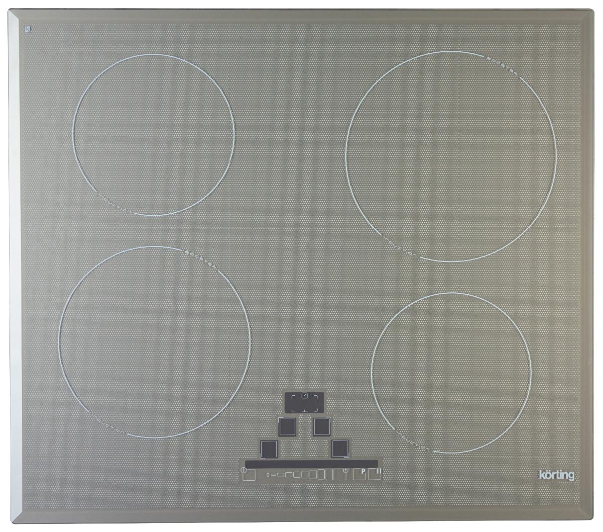 Встраиваемая варочная панель индукционная Korting HI 6450 B GR Grey Hi-Tech HI 6450 B GR