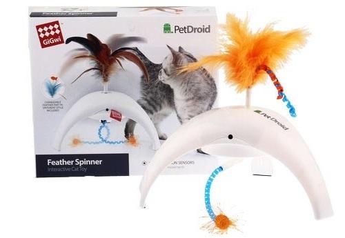 Интерактивная игрушка для кошек GiGwi Фезер Спиннер