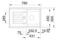 Мойка для кухни гранитная Blanco RONDOVAL 45 S 515764 белый