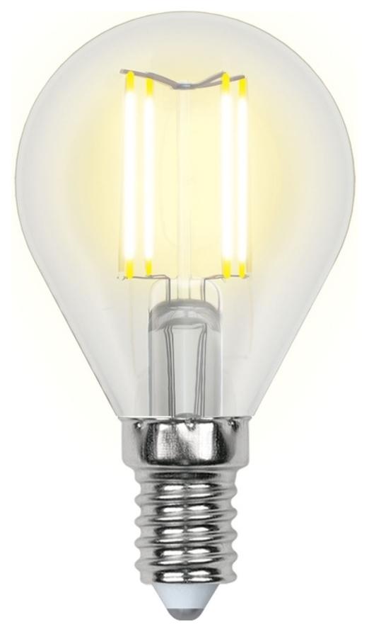 Лампа светодиодная (UL-00000197) E14 6W 3000K шар прозрачный LED-G45-6W/WW/E14/CL