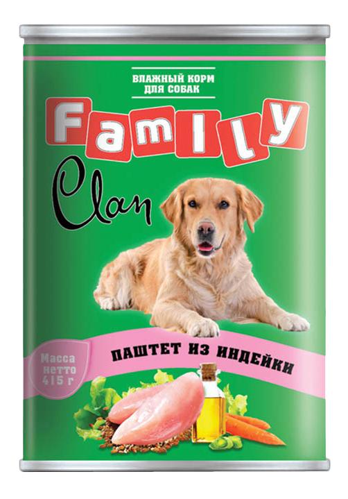 Консервы для собак Clan Family, индейка, 415г