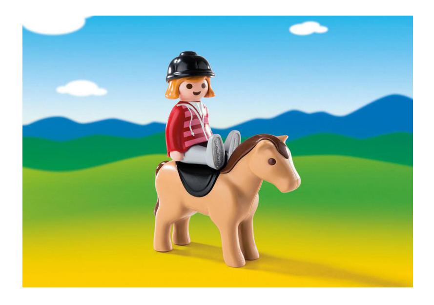 Игровой набор PLAYMOBIL 1.2.3.: Наездница с лошадью фото
