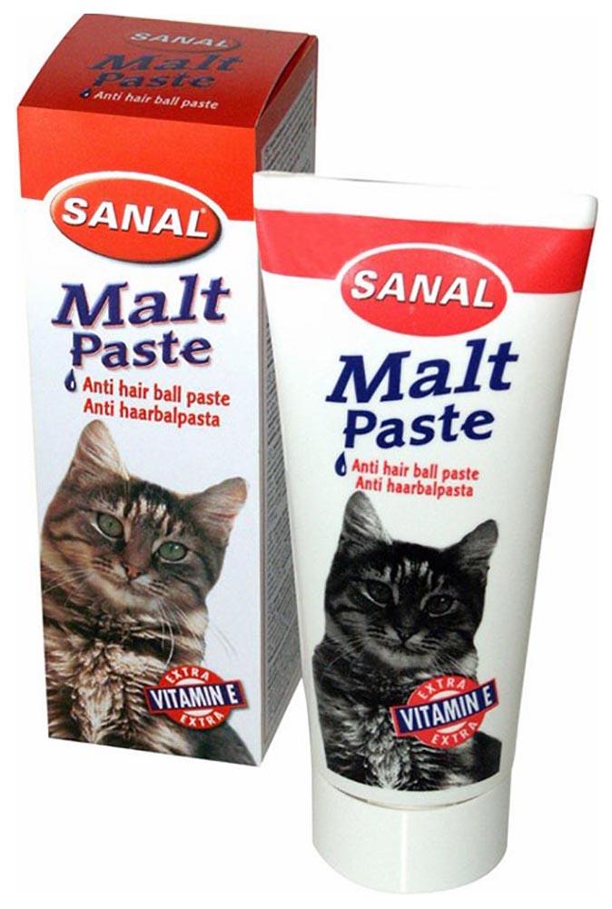 Мальт паста для выведения шерсти для кошек