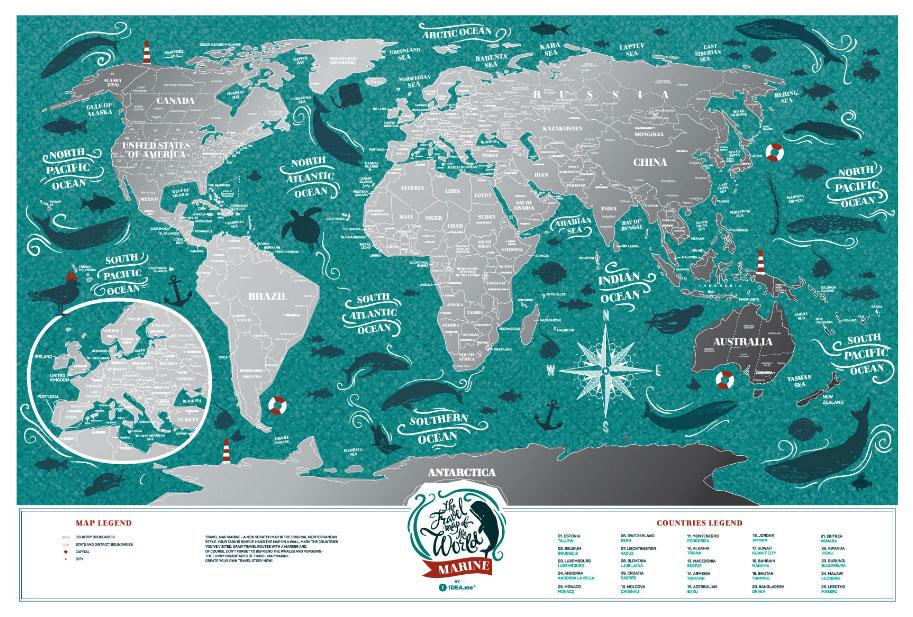 Географическая карта 1DEA.me Travel Map Marine World по цене 1 620