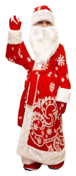 Карнавальный костюм Бока Дед Мороз, цв. красный