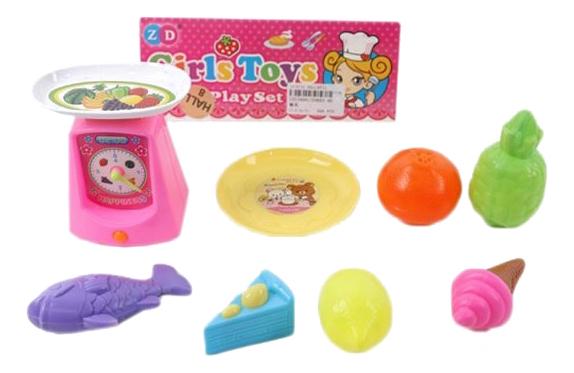 Купить Набор продуктов игрушечный Shantou Gepai Весы с продуктами ZD892-46,