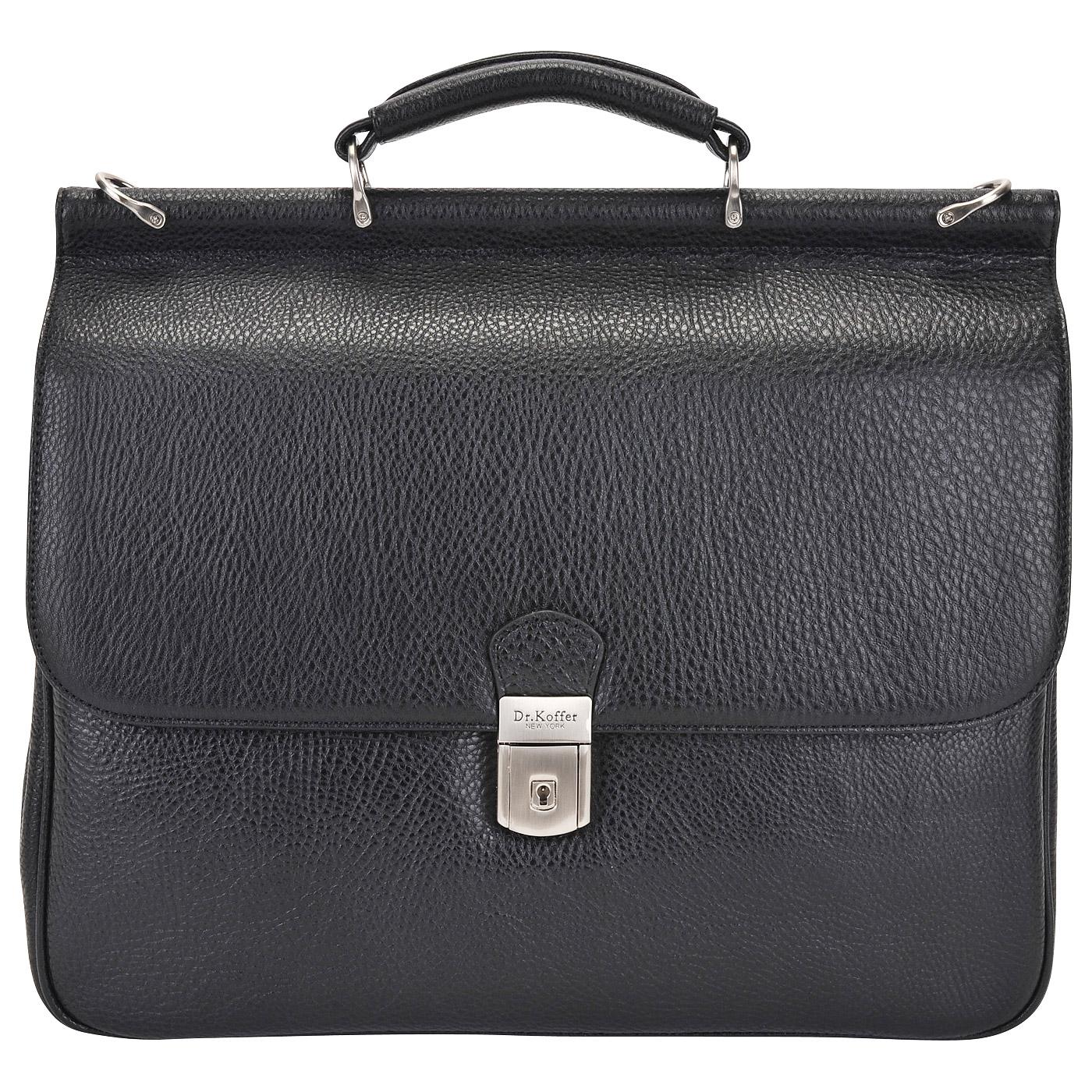 Портфель мужской кожаный Dr. Koffer P402295-02-04 черный фото