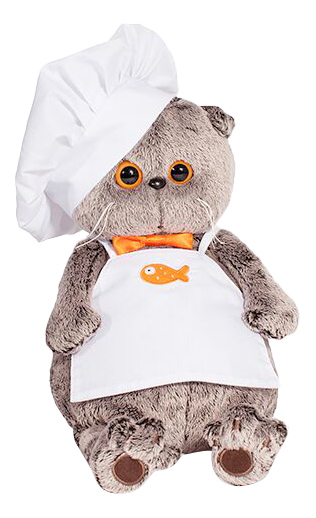 Мягкая игрушка BUDI BASA Кот Басик шеф-повар, 19 см фото