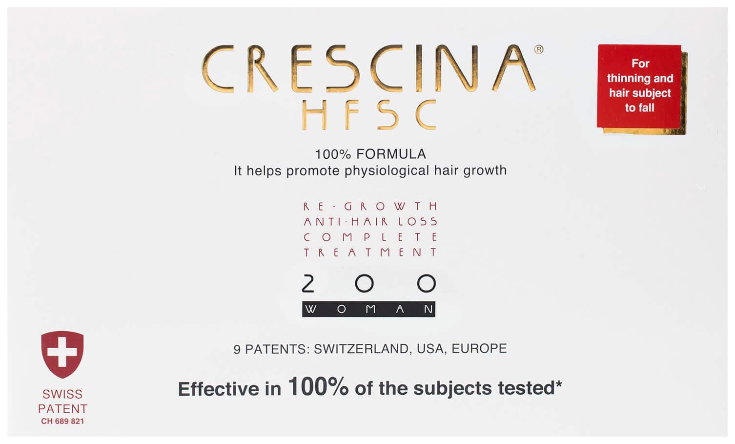 Купить Ампулы для волос Crescina 200 для стимулирования роста волос для женщин №10+лосьон, Комплекс 200 HFSC 100% для стимулирования роста волос для женщин