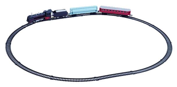 Железная дорога Голубая стрела Грузо-пассажирский поезд, локомотив 236 см, 3 вагона