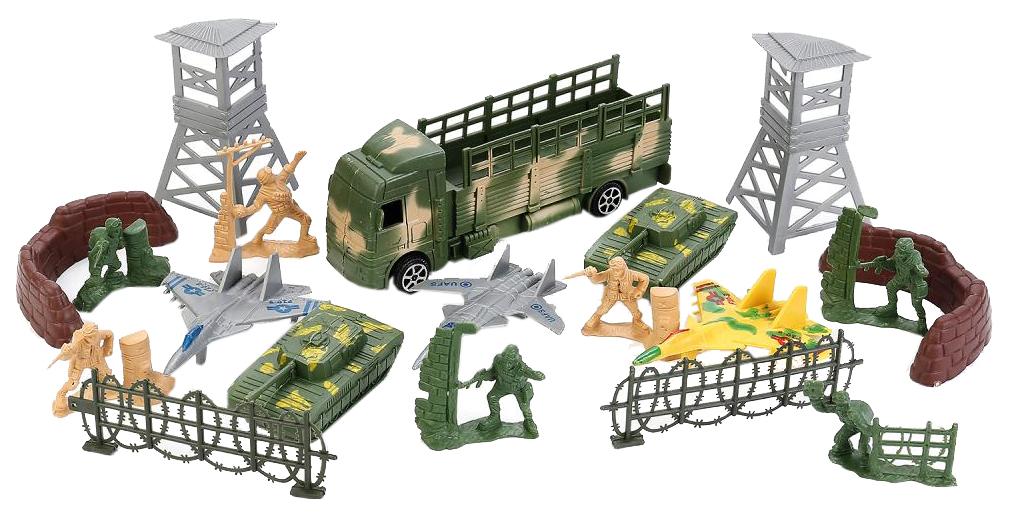 Игровой набор Играем Вместе Солдатики с военной техникой и аксессуарами