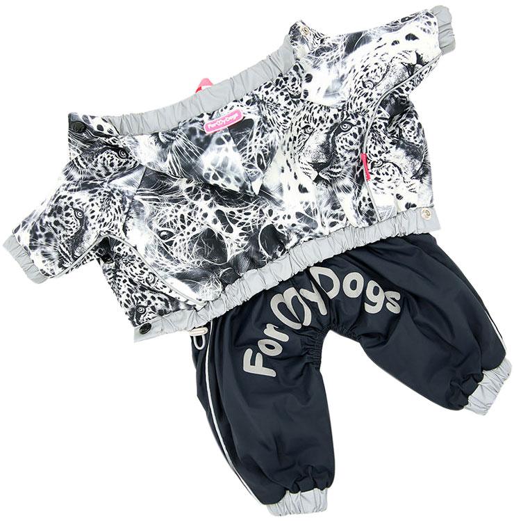 Дождевик для собак FOR MY DOGS, мужской, серый, 363SS-2019 M 10