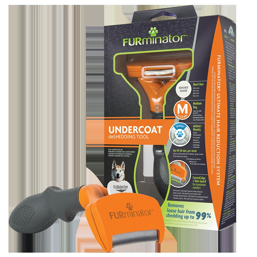 Фурминатор для собак FURminator® для средних пород с короткой шерстью, M