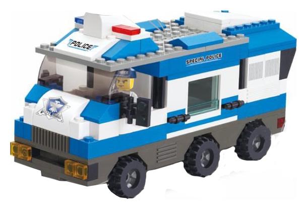 Купить SLUBAN Конструктор Полицейский спецназ 253 дет, в/к 31, 5*23, 5*5, 5 см JB900210, Конструкторы пластмассовые
