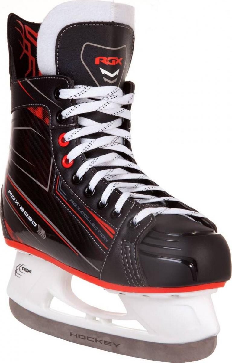 Коньки хоккейные RGX RGX-2030 черные/красные, 44 фото