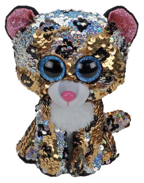 Купить Мягкая игрушка животное TY Леопард с пайетками 36345, Мягкие игрушки животные