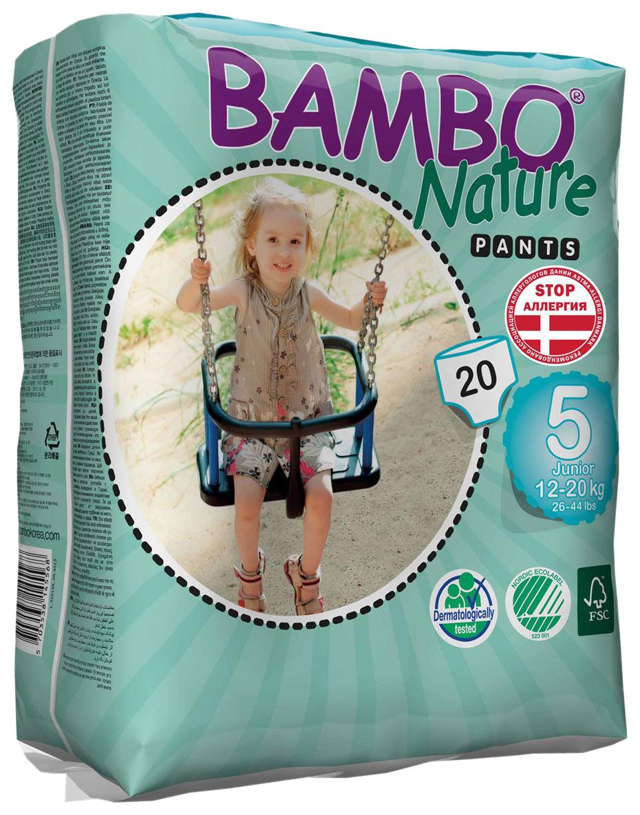 Купить Подгузники-Трусики Bambo Nature Pants Junior 12-20 Кг 20 Шт,
