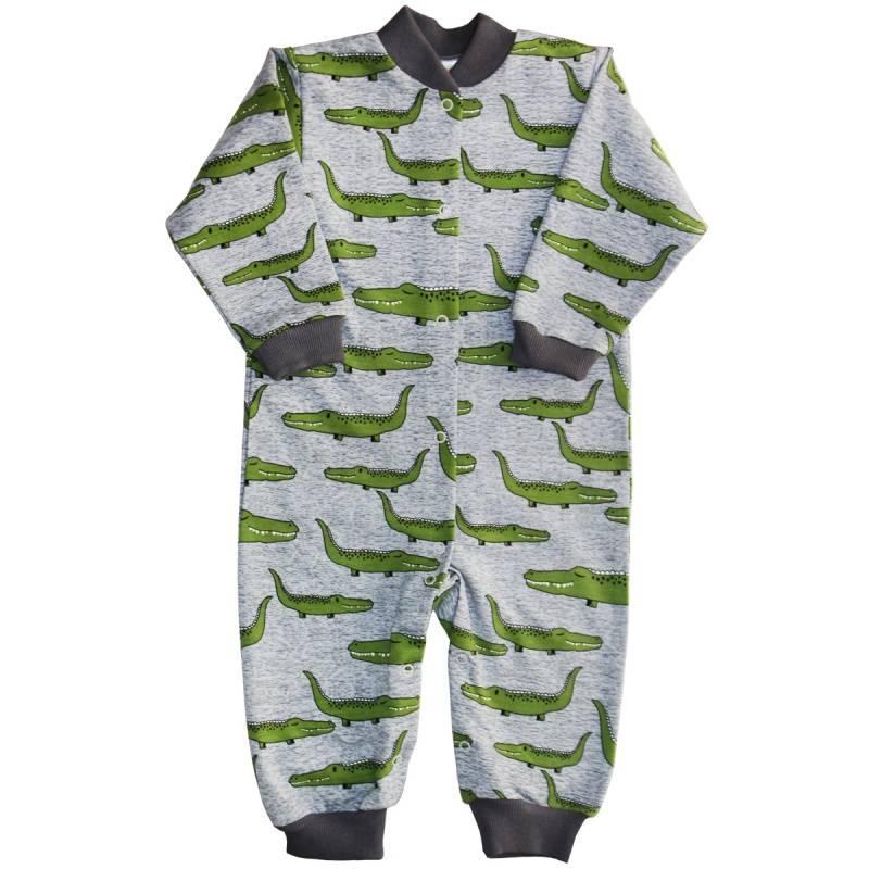 Купить 251/142/кро, Комбинезон Веселый малыш, цв. серый, 68 р-р, Трикотажные комбинезоны для новорожденных
