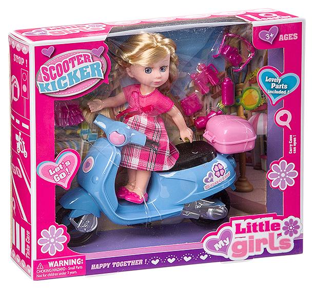 Набор игровой с куклой Scooter Kicker, BOX, 2 вида, арт.63011.