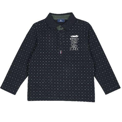 Купить 9033524, Лонгслив-поло Chicco для мальчиков р.92 цв.темно-синий, Кофточки, футболки для новорожденных