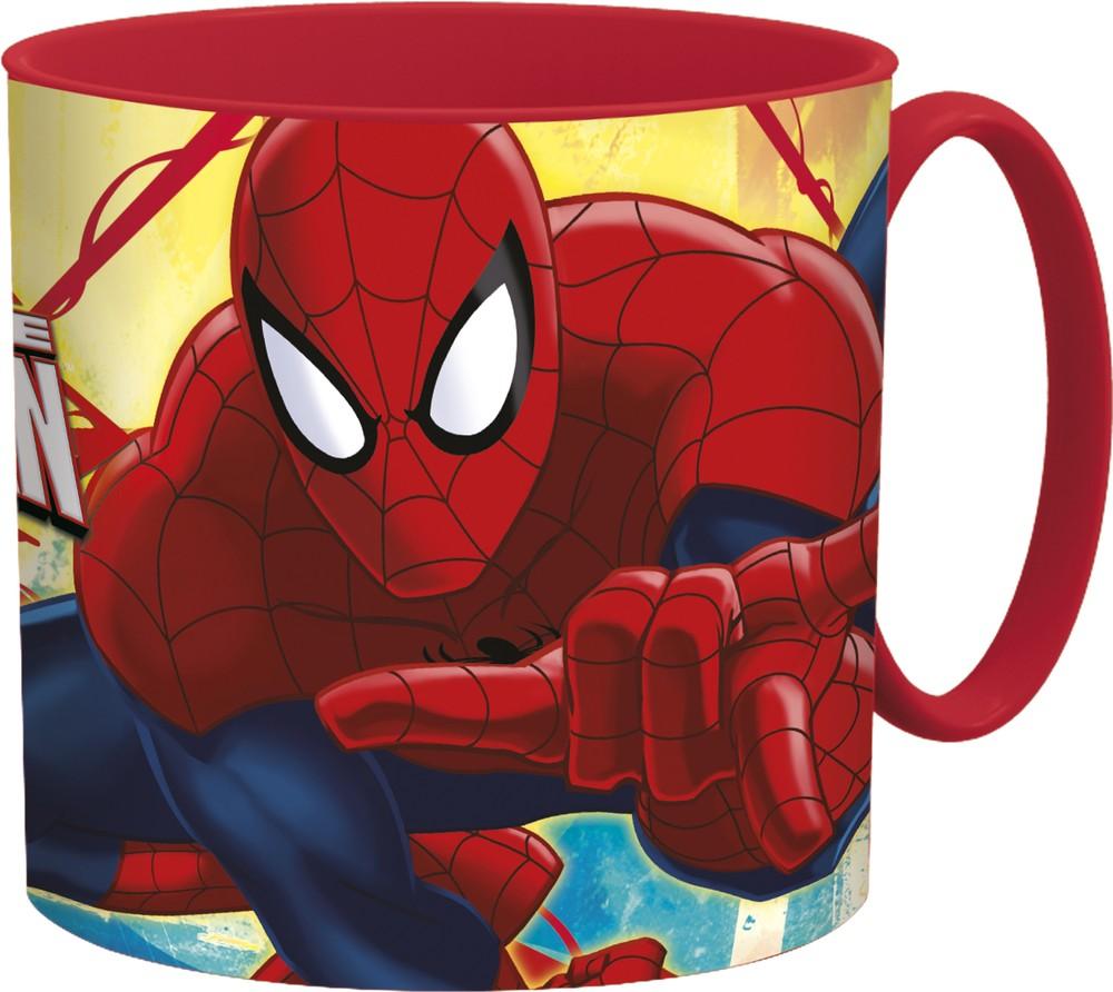Кружка пластиковая Stor (для СВЧ, 265 мл). Человек-паук Красная паутина, артикул 33444 фото
