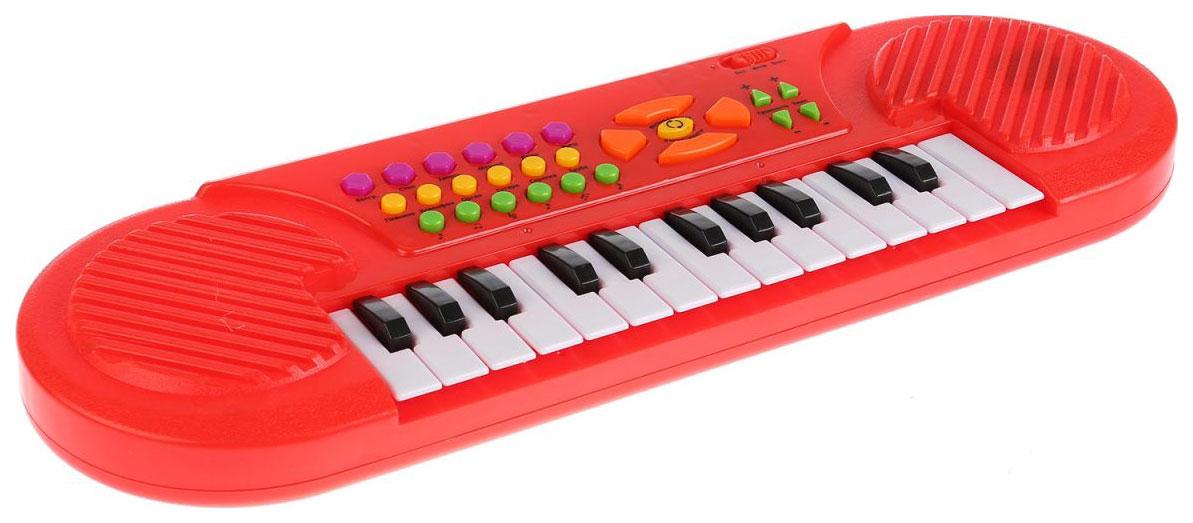 Купить Пианино Умка 22 Любимые песни из мультфильмов с микрофоном 2*12шт, Интерактивные игрушки