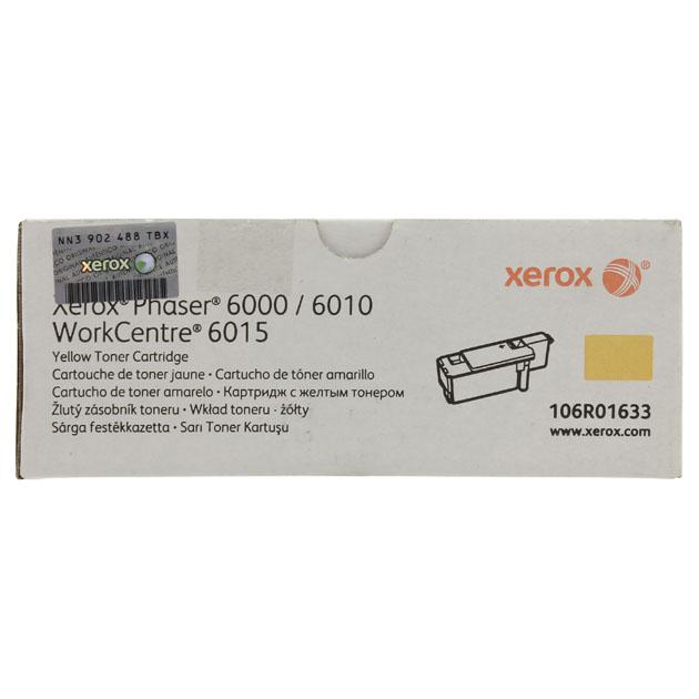 Картридж для лазерного принтера Xerox 106R01633, желтый, оригинал