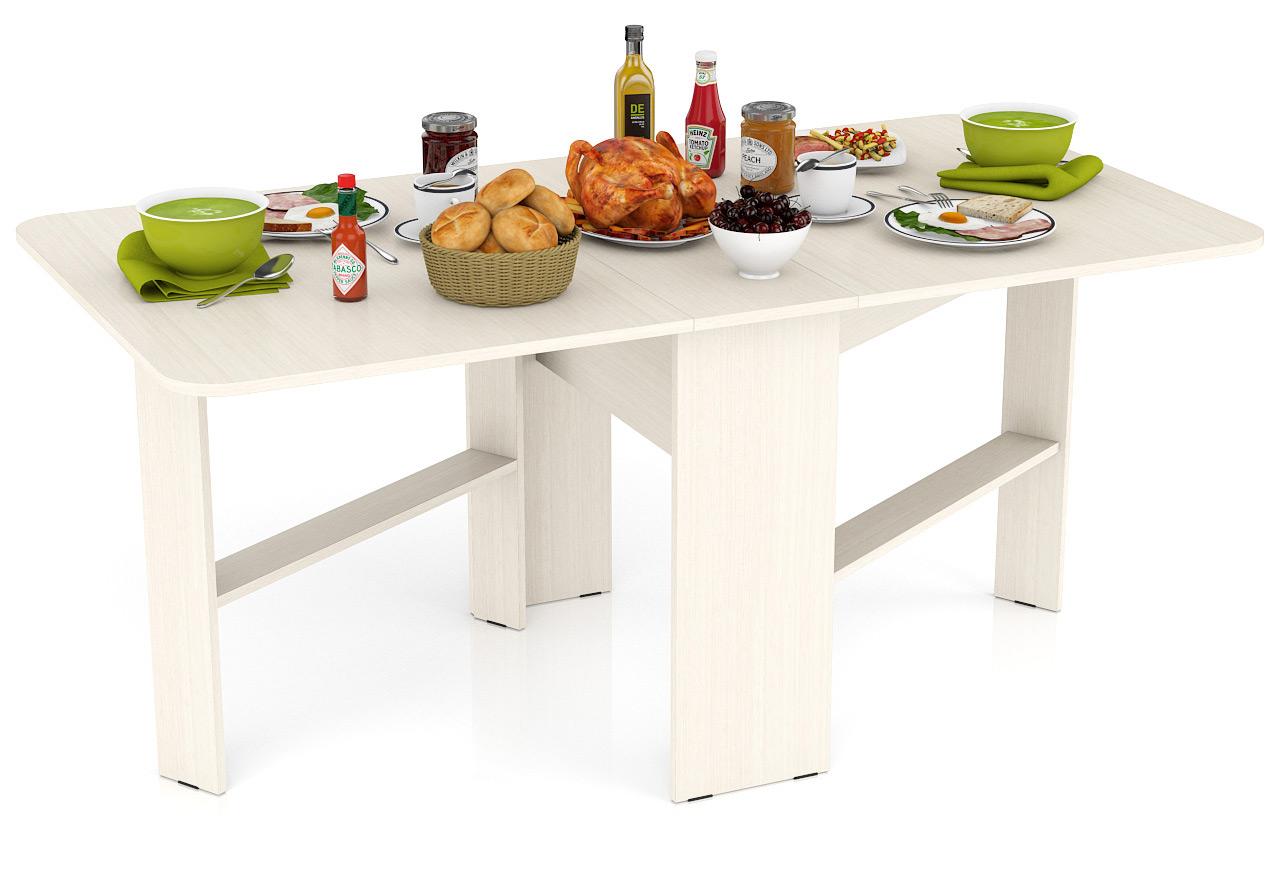 Кухонный стол Мебельный Двор Стол-книжка обеденный СО-01 дуб 170х90х75 см дуб фото