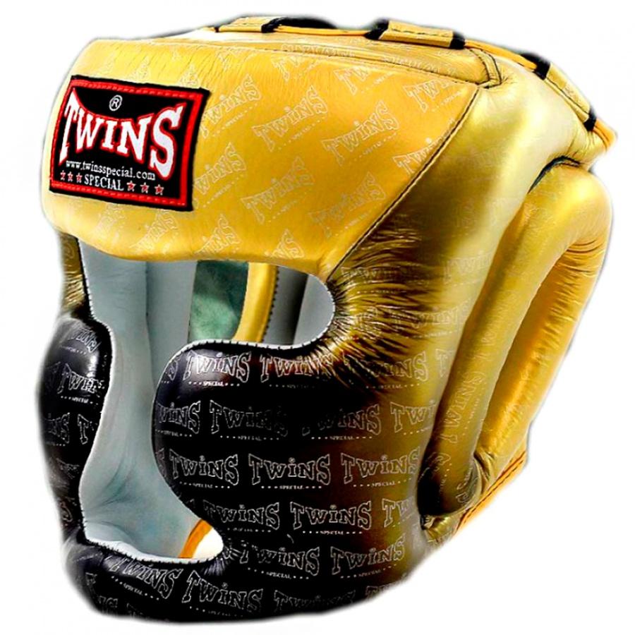 Шлем боксерский Twins FHGL3 TW1 черно золотой, XL