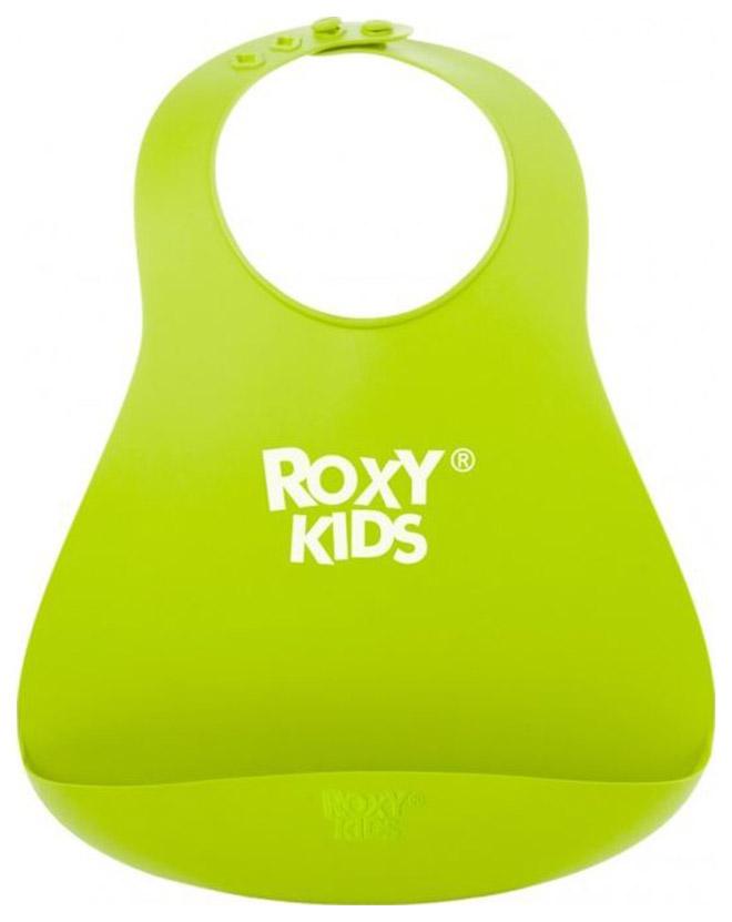 Нагрудник мягкий для кормления Roxy, зеленый