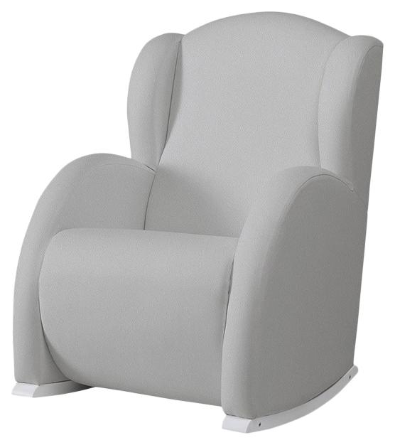 Купить Кресло-качалка Micuna (Микуна) Wing/Flor white/grey искусственная кожа, Детские стульчики