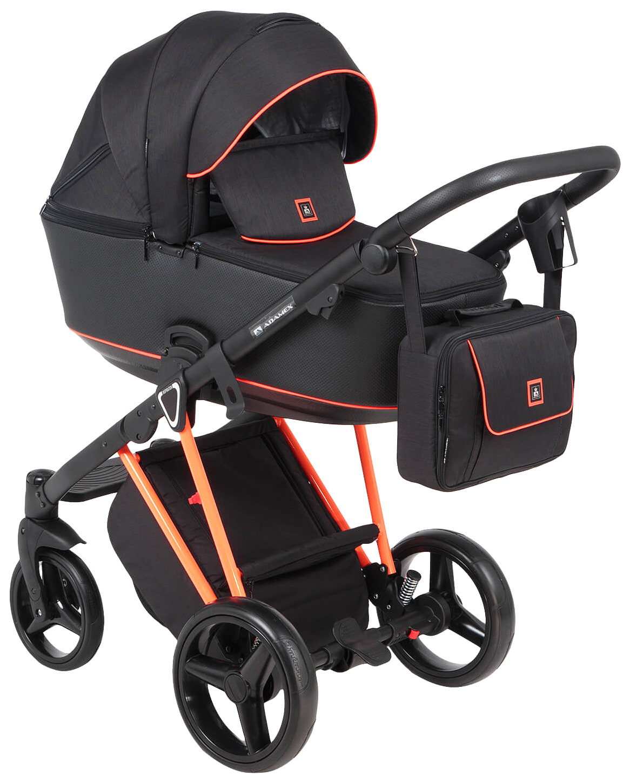 Купить Коляска 3 в 1 Adamex Cristiano CRISTIANO-FLUO-3-В-1-ORANGE Orange, Детские коляски 3 в 1