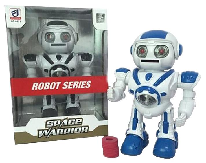 Робот электрический, свет, звук, ходит, стреляет мягкими
