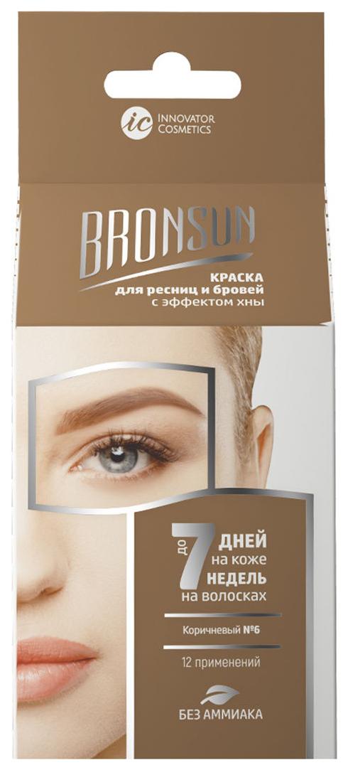 Краска для бровей Innovator Cosmetics BRONSUN Для домашнего окрашивания №6 Коричневый фото