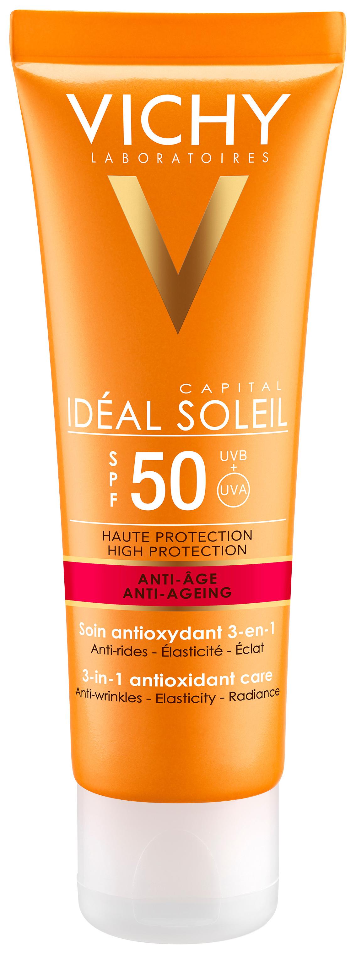Купить Солнцезащитное средство Vichy Ideal Soleil Anti-Ageing SPF50 50 мл