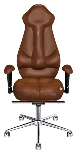 Кресло руководителя Kulik System Imperial, экокожа, Коричневый