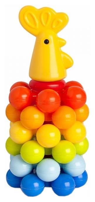 Купить Развивающая игрушка Росигрушка Пирамидка Петушок с шариками, Пирамидки для детей