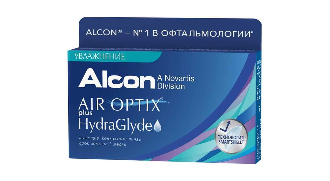 Контактные линзы ALCON Air Optix plus HydraGlyde 6 линз +3,50