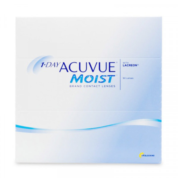 Купить 1-Day Moist 90 линз, Контактные линзы 1-Day Acuvue Moist 90 линз R 9, 0 -4, 50