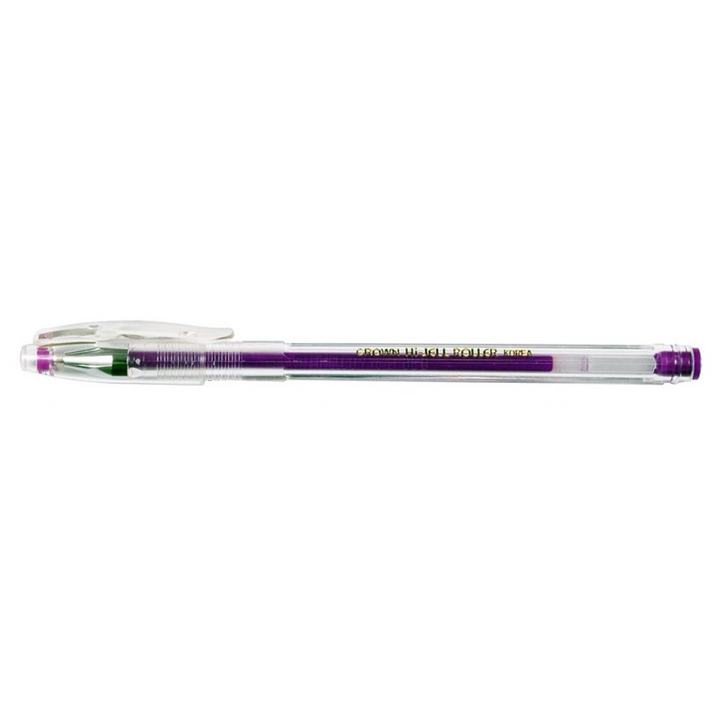 Учка гел, HJR-500H фиолетовая 0,7мм Crown (12/144/1152)