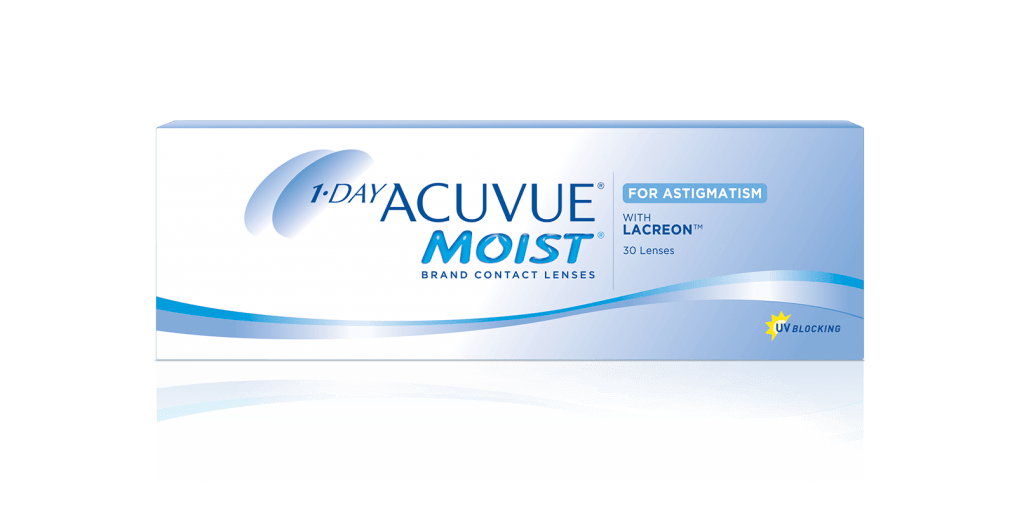 Купить Контактные линзы 1-Day Acuvue Moist for Astigmatism 30 линз -6, 50/-2, 25/90
