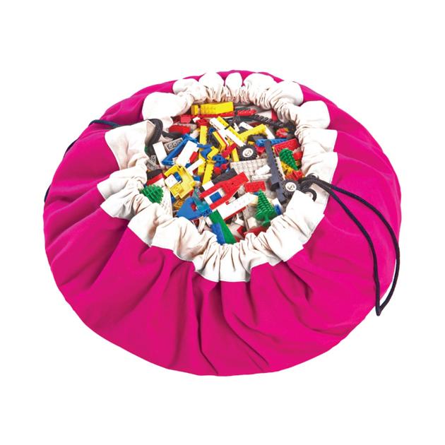Мешок для хранения игрушек и игровой коврик Play#and#Go 2 в 1 Classic фуксия